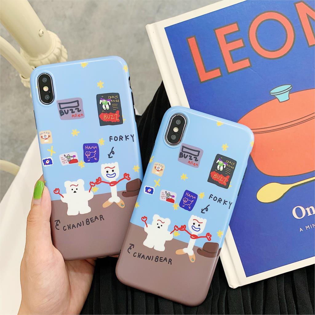 INS Korea cute cartoon cool funny bear phone case for <font><b>iphone</b></font> Xs MAX <font><b>XR</b></font> X 6 6s 7 8 plus <font><b>Toy</b></font> <font><b>Story</b></font> Buzz Lightyear soft <font><b>coque</b></font> image