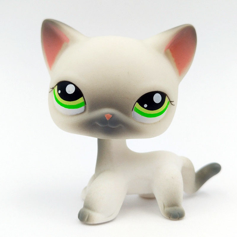 Лпс стоячки кошки Игрушки для кошек lps, редкие подставки, маленькие короткие волосы, котенок, розовый#2291, серый#5, черный#994,, коллекция фигурок для питомцев - Цвет: 125