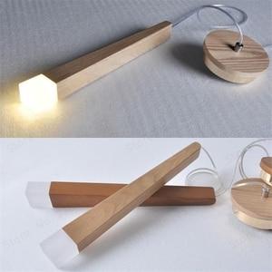 Image 1 - LukLoy עץ תליון אור תליון מנורת מטבח תליית מנורת עץ תליית אור סלון מודרני מבואת אורות לופט חנות מנורה