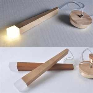 Image 1 - Lukloy 나무 펜던트 라이트 펜던트 램프 주방 매달려 램프 나무 교수형 조명 거실 현대 로비 조명 로프트 숍 램프