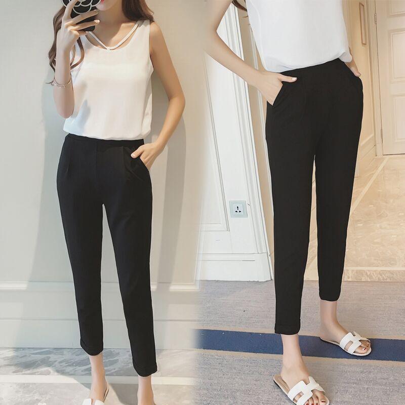 Pants Xiuxian Summer-Wear Haren Woman Tide Nine Suit Bound Fat-Mm