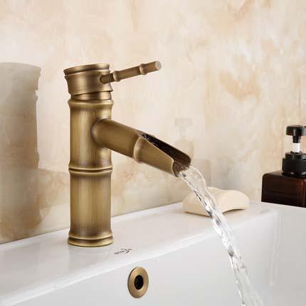 Archaistic Faucet Copper European Style Basin Faucet Toilet Vintage Hand Washing Wash Basin Inter-platform Basin Faucet Hot And