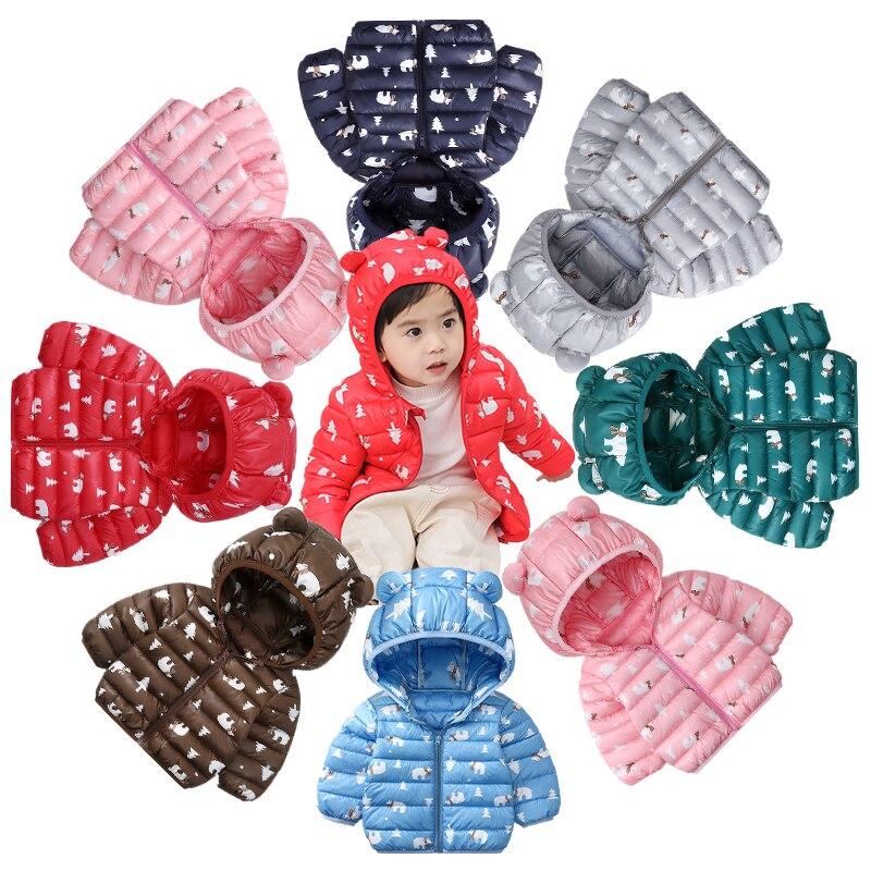 Children's Winter Jackets 2019 New Graffiti Hooded Boys Coat Cotton Kids Parkas Coat Baby Jacket For Girls Parka Outerwear