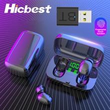TWS auriculares inalámbricos intrauditivos Bluetooth 5,0, Mini auriculares deportivos para hacer ejercicio en el gimnasio, para iPhone 11 y Samsung