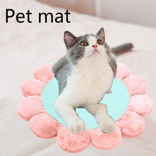 цена на Winter Comfortable Warm cat Beds Kennel Pad Soft Flower Pet Cat Mats Dogs Sofa cushion cover Kennel blanket For Small Large cats
