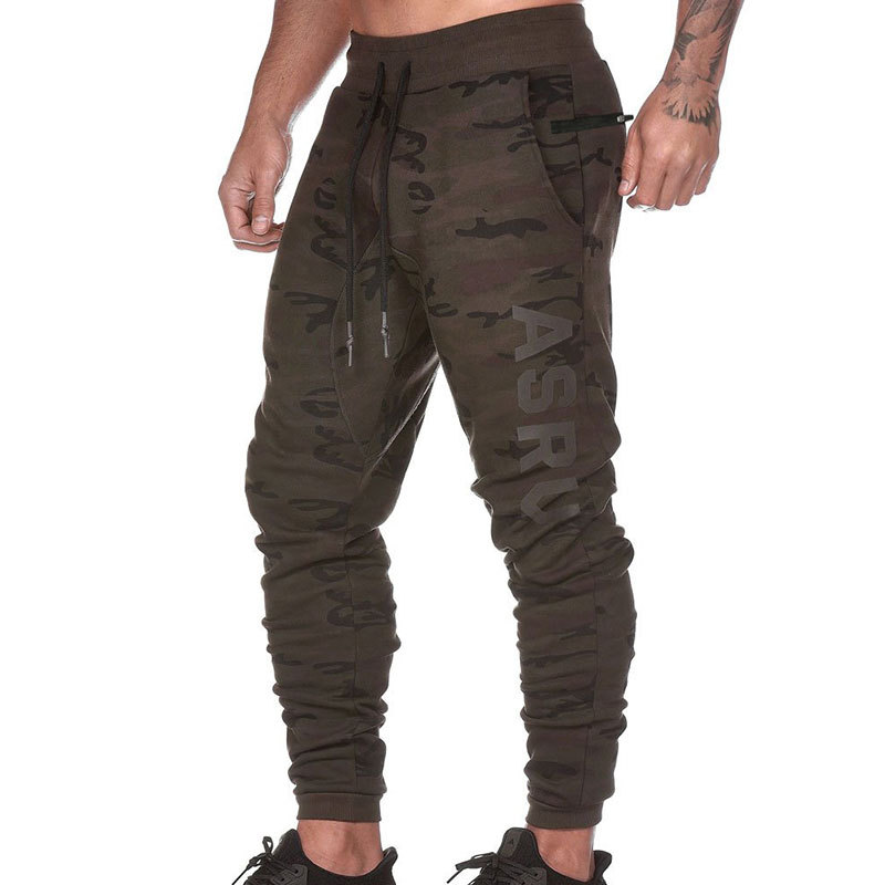 ASRV New 2019 Spring Autumn Men's Casual Sports Pants Loose Breathable Printing Male Training Trousers Size M-3XL
