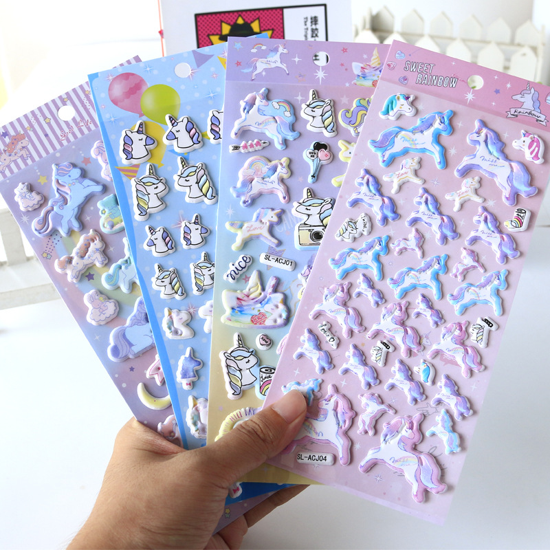 Unicorn Foam Bullet Journal 3D Personalized Decorative Stationery Stickers Scrapbooking DIY Diary Album Stick Label