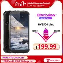 """البلاكفيو BV9500 Plus هيليو P70 ثماني النواة الهاتف المحمول 5.7 """"شاشة أندرويد 9.0 10000mAh 4GB 64GB IP68 مقاوم للماء الهاتف الذكي"""