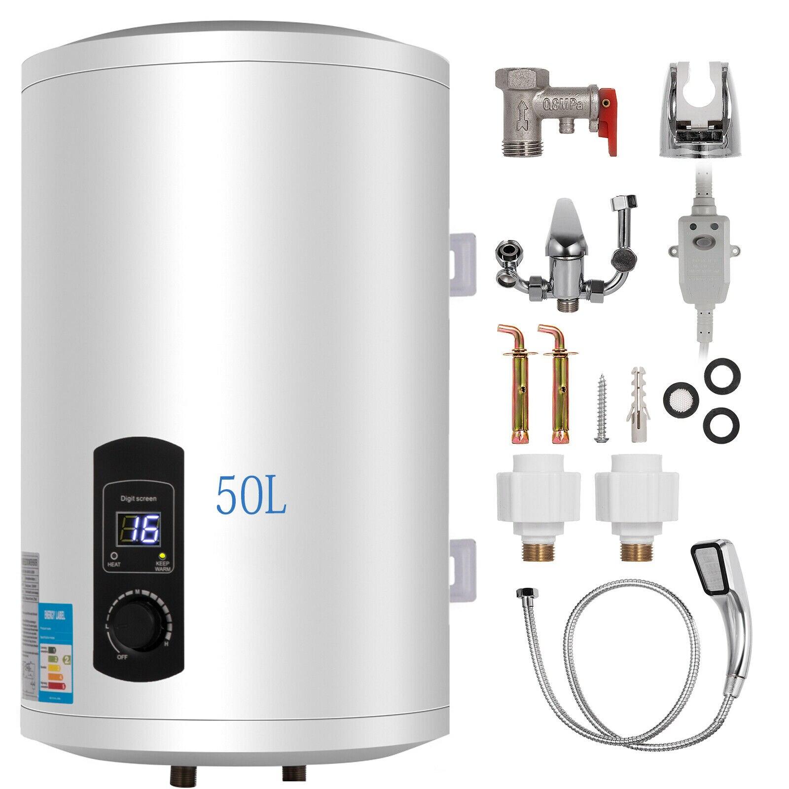 50L Electric Hot Water Tank Boiler Electric Storage Electric Boiler Vertical