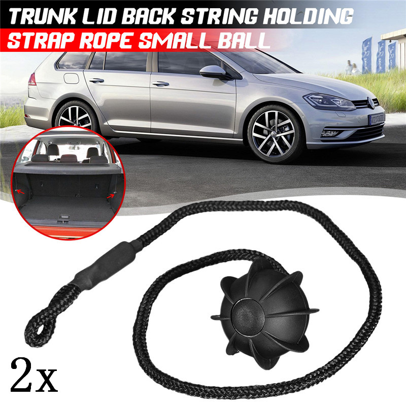 2Pc Hatchback Parcel Shelves Trunk Lid Back Shelf String Holding Strap Rope SmallBall For VW Golf 6 GTI R20 MK5 1K6 863 447 A