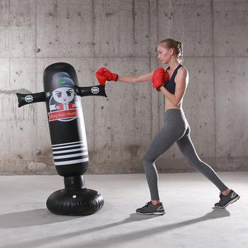 160cm nadmuchiwany worek bokserski dla dorosłych dzieci bokserski worek z piaskiem cel treningowy nadmiarowy ciśnienia ćwiczenia z piaskiem tanie i dobre opinie MOJOYCE CN (pochodzenie) Kategoria worka z piaskiem 3 lat Punching Bag Inflatable Boxing Bag Inflatable Training Bag