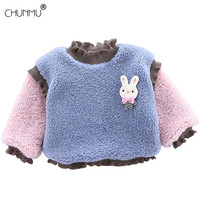 Baby Sweater Fleece Thicken Long-sleeved Tops Warm Half High Collar Kids Winter Infant Clothes Children Clothing