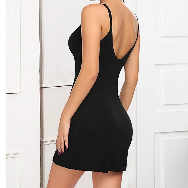 Sexy Lingerie Women Nightdress Lace Mini Dress Deep V Neck Nightie Nightgown Sleep Wear Sleepwear Night 5