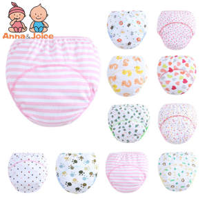 1 Pieces 3 Layers Cute Baby Training Pants Learning Panties Infant Shorts Boy Girl Diapers Cotton Nappies Underwear