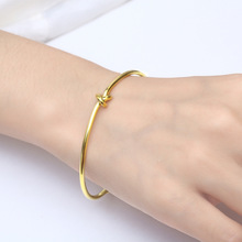 Fashion Bracelets Bangle Gold Beads Stainless Steel Jewelry Woman Accessories Personality Tie The Knot Adjustable Open Bracelet цена 2017