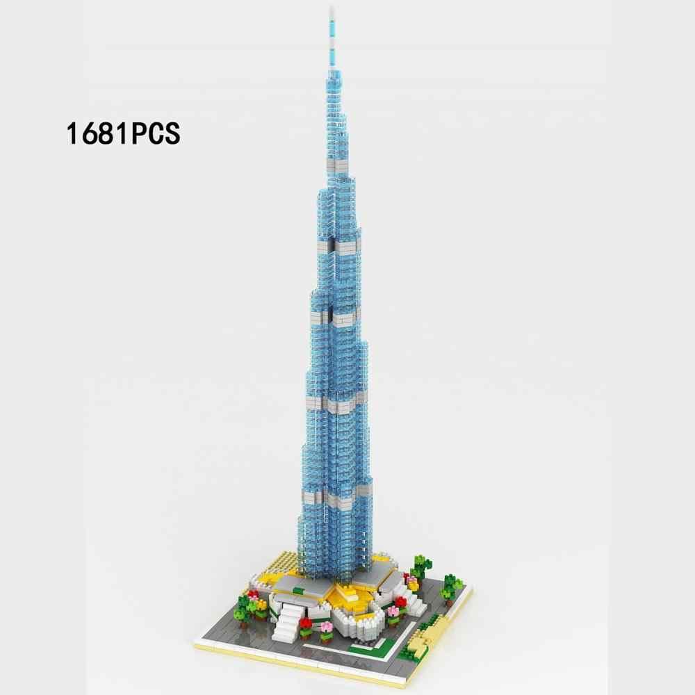 العالم الشهيرة العمارة الحديثة مايكرو الماس بناء كتلة دبي برج خليفة الإمارات العربية المتحدة نانو الطوب اللعب