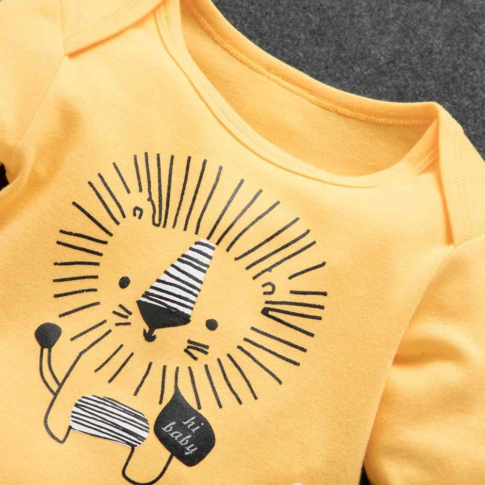 PatPat 2020 Bebe Autunno e di Inverno Del Cotone Leone Casual 3 Pezzi Set Del Bambino Del Ragazzo Del Bambino Carino Pantaloni Della Tuta Vestito Del Cappello vestiti del bambino