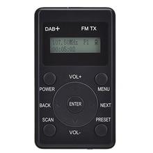 Mini radyo taşınabilir DAB +/DAB/FM radyo Stereo cep radyo LCD ekran ve kulaklık