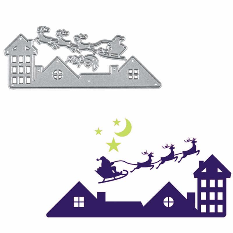 InLoveArts サンタクロースクリスマスダイス金属切削ダイス新 2019 作るカードのためのエンボスカットクラフト鹿ダイス
