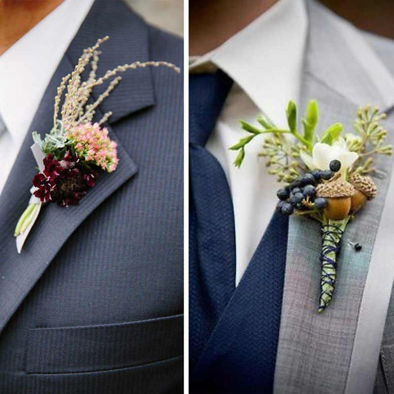 20pcs พลาสติกเข็มกลัดโลหะ Unisex เสื้อ Pins ปลอมดอกไม้เข็มกลัดเข็มกลัดผู้หญิงเข็มกลัดงานแต่งงานเครื่องมือตกแต่ง Party อุปกรณ์