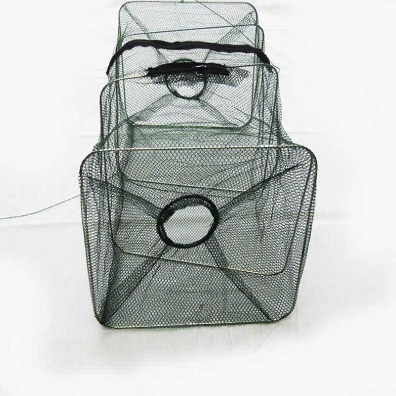Rede de pesca com design de cobre, rede para pescar de 21*22*50cm, malha pequena equipamento de pesca com rede