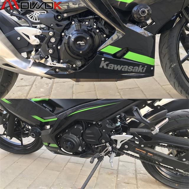 KAWASAKI NINJA 400 Z 400 NINJA400 Z400 2018 2020 motosiklet aksesuarları Crash Pad Stator Case koruyucu güvenlik