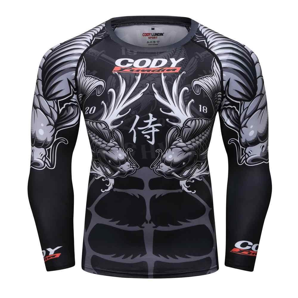 Camisa MMA t herren bjj jiu jitsu t camisa Langarm rashguard Aptidão Esporte Pullover rashguard mma Muay Thai Boxing boxen jersey