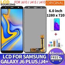 "6.0 ""orijinal LCD Samsung Galaxy J6 + artı J610 J610F için LCD ekran dokunmatik ekran meclisi J4 + artı J415 J410 LCD yerine"
