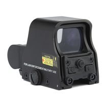 Novo alumínio tático caça riflescope 1x holográfica red dot sight brigthness ajustável 551 552 553 preto