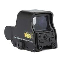 Nowa aluminiowa Tactical polowanie luneta 1x holograficzny kolimator Red Dot ustawienia jasności regulowany 551 552 553 czarny