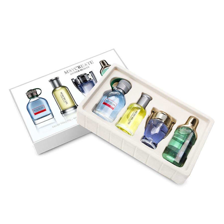 1Set 4Pcs Perfume For Men Long Lasting Male Parfum Atomizer Bottle Glass Spray Fashion Fragrance Liquid Antiperspirant