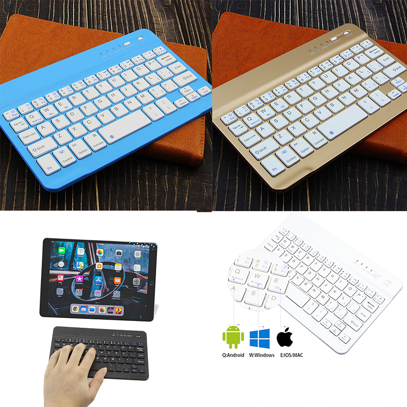 Mini Bluetooth Wireless Tablet Kayboard Portable Ultra Slim Lightweight Kayboards For Ipad 78 Keys Office Kaypad For Smartphone