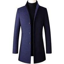 Thoshine брендовая зимняя 30% шерсть круглая Лыжная мужская шапка, утепленная куртка со стоячим воротником, мужской модный полушерстяные куртки ...