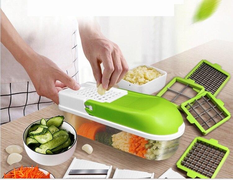 6 шт./компл. ручной слайсер для картофеля устройство резки овощей и фруктов из нержавеющей стали лук морковка Терка дикер кухонные инструмен