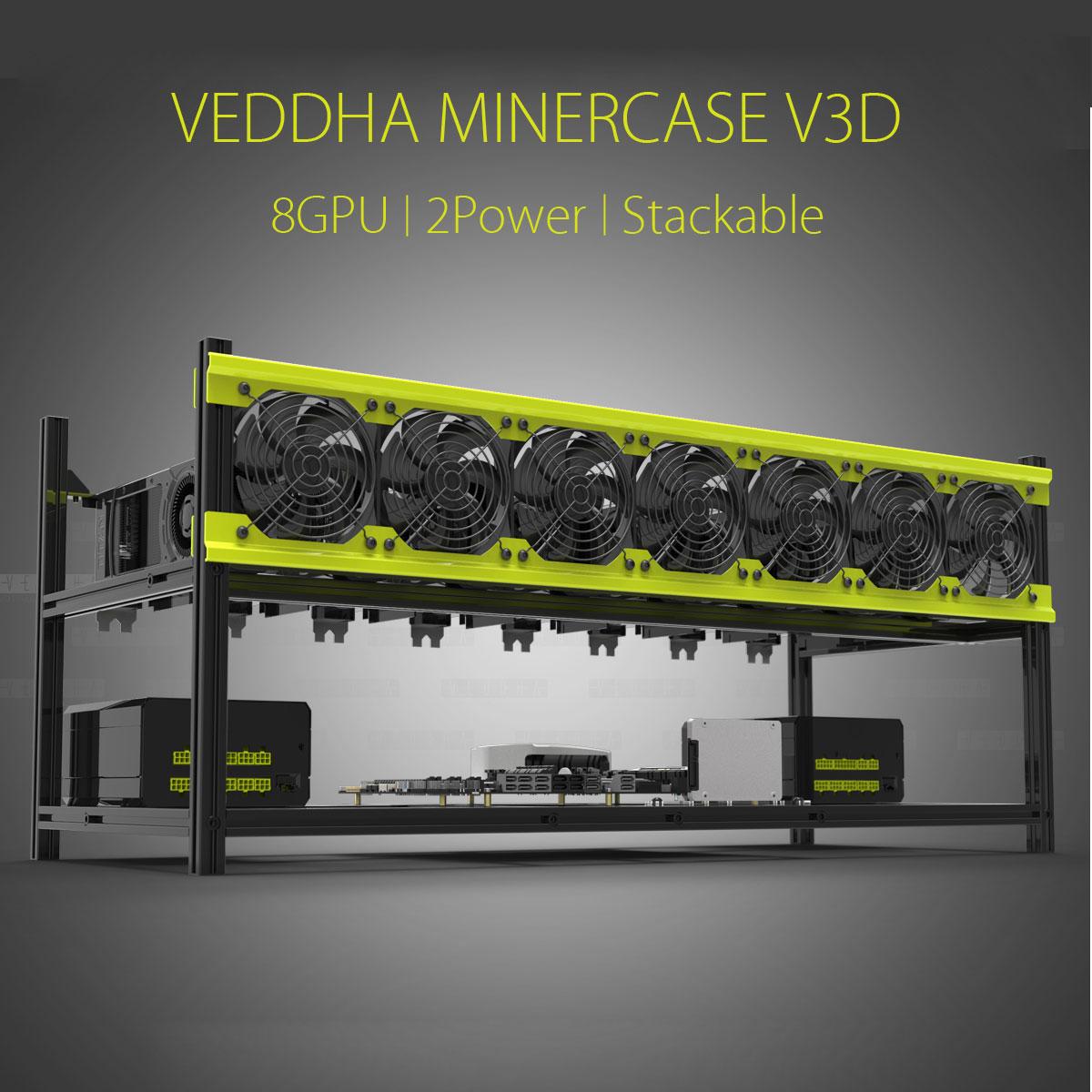 SKYEE Open Air Bergbau Rig Stapelbar Dual Power Rahmen Fall Für 8 GPU ETH BTC Ethereum Neue Computer Bergbau Rahmen server Chassis