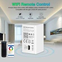 MiBOXER YT1 Remote Controller Amazon Alexa Voice Control WiFi Wireless & Smartphone APP Control work with Mi.light 2.4G Series miboxer yt1 remote wifi led controller amazon alexa voice control wifi wireless
