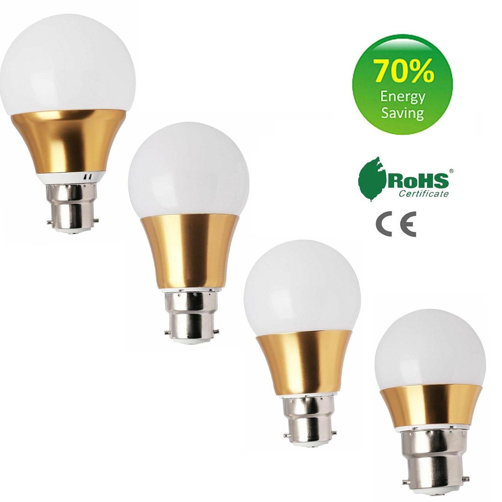 3W 5W 7W 9W Dimmable LED Globe Bulbs B22 BC Bayonet Light AC 220V Lamps For Chandeliers Energy Saving Light Bombillas Bulb Lamps