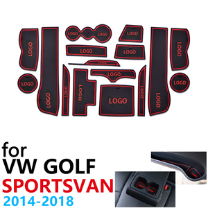 Противоскользящие резиновые чашки подушки двери паз коврик для Volkswagen Golf SV Sportsvan 2014 ~ 2018 аксессуары наклейки коврик для телефона 2017