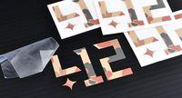 Free shipping Custom Die Cut Vinyl Transparent Bumper Window Car Sticker PX7016