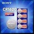 Кнопочные батарейки Sony cr1620, 4 шт./лот, оригинальные батарейки для часов, 3 в, литиевая батарея CR 1620 BR1620, пульт дистанционного управления, кальк...