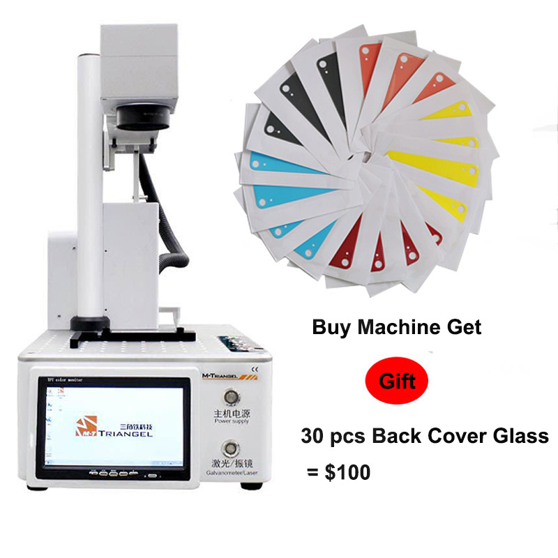 M-triangel laser que separa a máquina de reparo do laser da fibra lcd para iphonex xs max 8 8 + removedor de vidro traseiro quadro corte