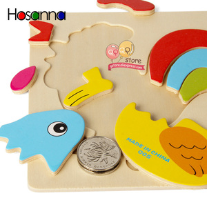 Image 4 - N Tsi תינוק עץ פאזל צעצועים לפעוטות פיתוח חינוכיים ילדים צעצועים לילדים משחק קריקטורה בעלי החיים מתנה 3 שנים