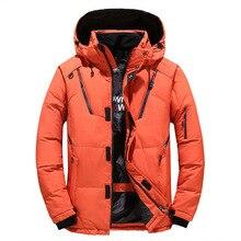 Kalın sıcak kış ceket erkek kapüşonlu rahat açık erkek Parka rüzgarlık erkek kış ceket moda katı erkek palto