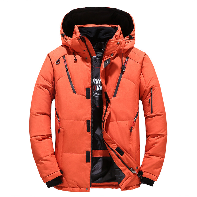 Thick Warm Winter Jacket Men Hooded Casual Outdoor Mens Parka Windbreaker Man Winter Coat Fashion Solid Mens Overcoat