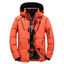 Thick Warm Winter Jacket Men Hooded Casual Outdoor Mens Parka Windbreaker Man Winter Coat Fashion Solid Mens Overcoat