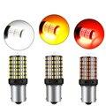 2 шт. Поворотная сигнальная лампа 1157 BAY15D 1156 BA15S BAU15S Светодиодный лампочки Canbus T20 7440 W21W 3014 144Smd для автомобильных аксессуаров
