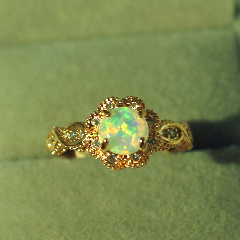 DODO gold color Fire Opal Rings For Women Jewelry Vintage Wedding Engagement Rings Anillos Anillos Drop Shipping DD303 (7)