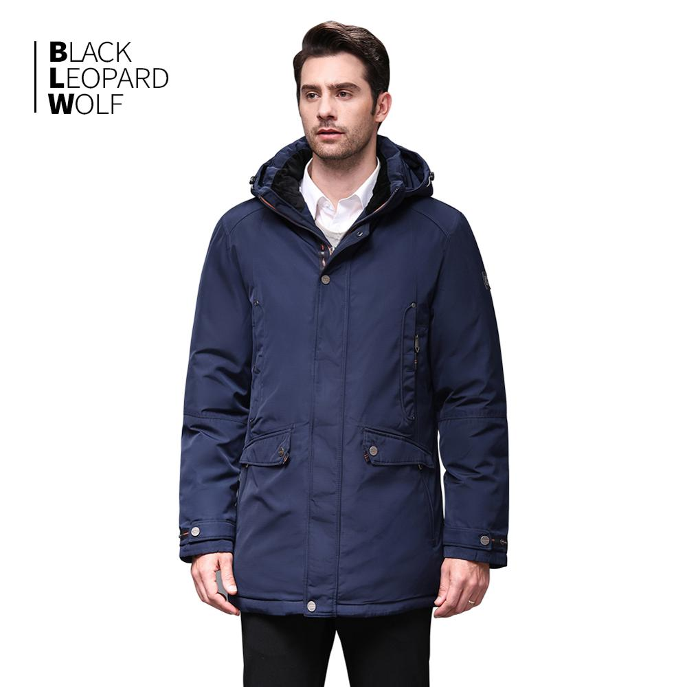 Blackleopardwolf 2019 new arrival winter jacket men fashion coat high quality thik parka with zipper outwear down jacket BL-1052