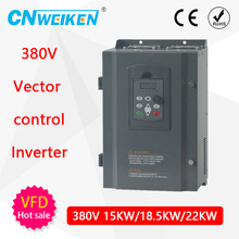 Free Shipping-380v-22KW/ 3 Phase 380V /45A Frequency Inverter-- V/F control 22KW Frequency inverter/ Vfd 22KW AC drive vfd coolclassic inverter converter 380v 7 5kw inverter three phase power warranty 18 month