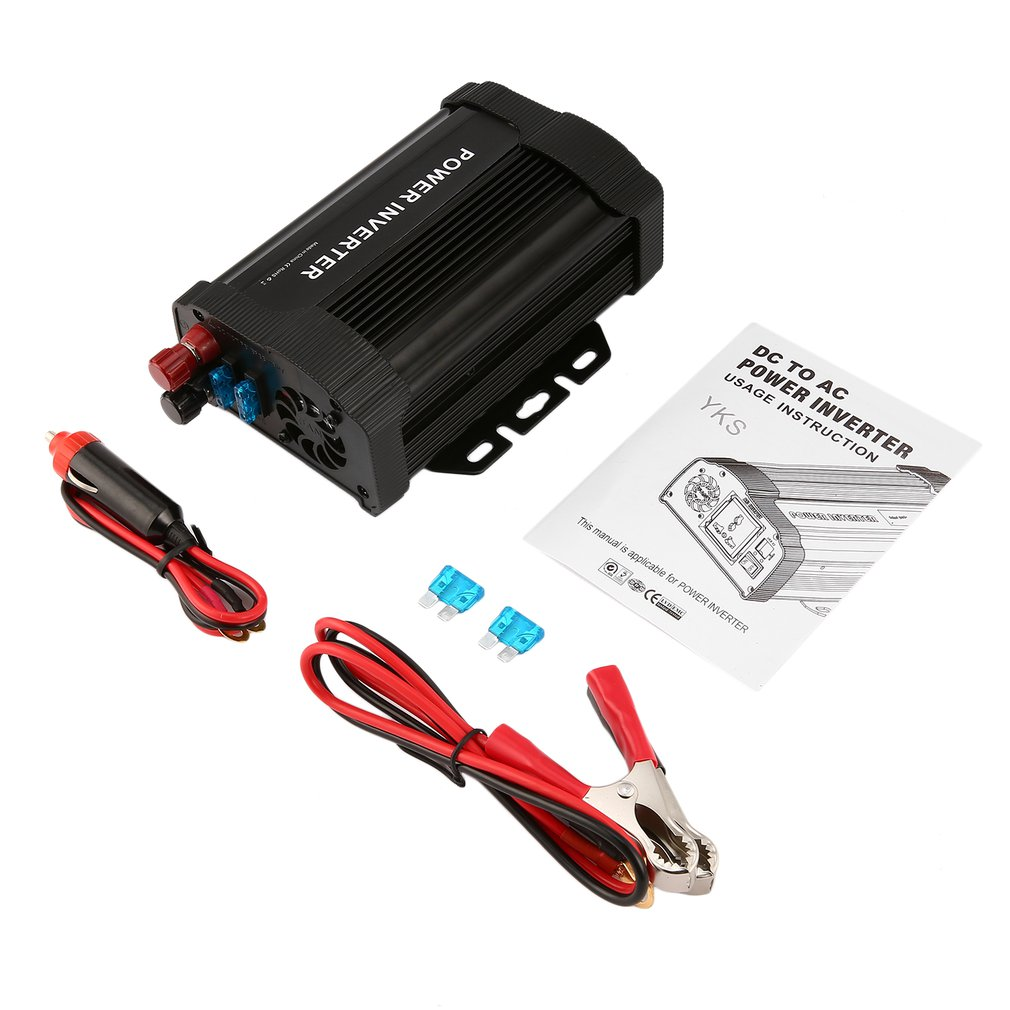 P-Series <font><b>1000W</b></font> Portable Car <font><b>Power</b></font> <font><b>Inverter</b></font> DC12V to AC110V Modified Charger <font><b>Power</b></font> Converter Adapter for TV DVD Player image